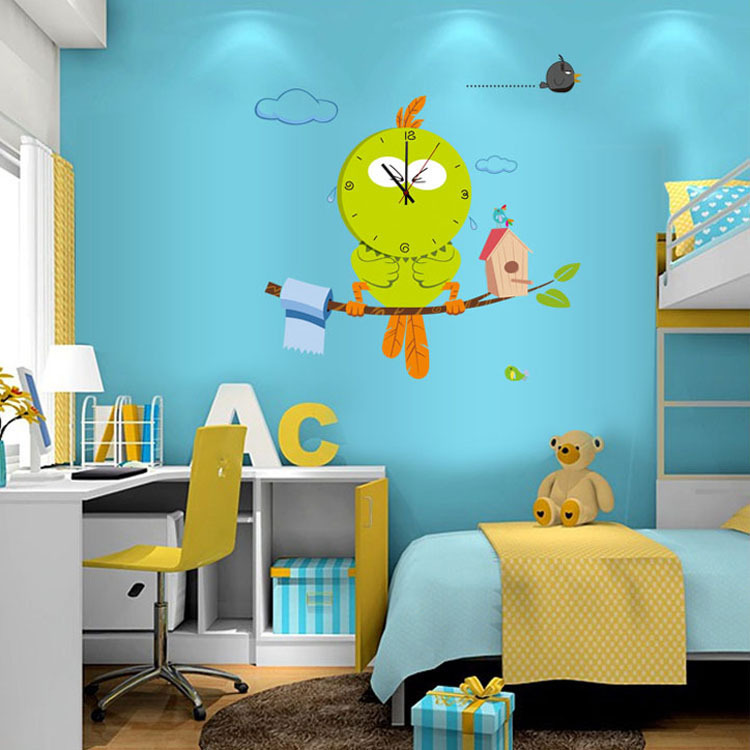 Clock Vinyl Wall Decor stickers For Bedroom Living Room Nursery Decoration Removable Wall Decor