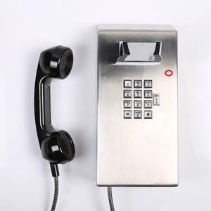 Stainless steel inmate phone with loudspeaker vandal resistant telephone service phone anti vandal telephone