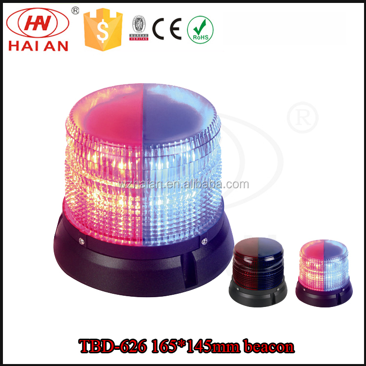 LED warning strobe beacon light/traffic emergency signal beacon for police/red blue security alarm rotator lamp for sale TBH-626