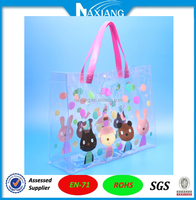Alibaba 2015 New Fashion Clear Transparent PVC Toiletry Bags Large Size Tote Bags with Handles