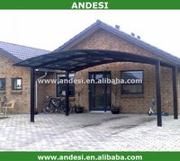 metal sunshade frame carport canopies