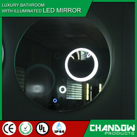CSB808 Bathroom Magnifier Glass Antique Illuminated LED Decorative Wall Mirror