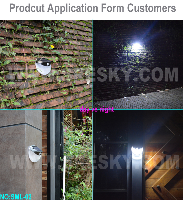 2017 New design led solar home light solar motion sensor light outdoor lighting wall lamp with low price