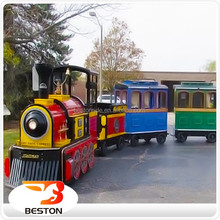 mechanical and electrical equipment funny adult rides train set trackless train toy