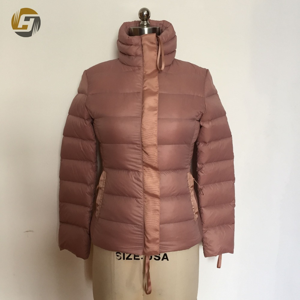 Top quality China suppliers professional double side sewed through down jacket women