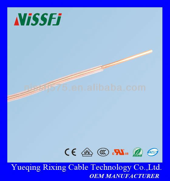Transparent teflon insulated solid copper condutor single building electronic wire