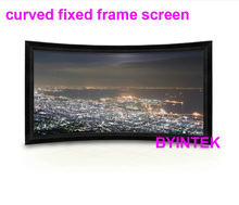 wide view HD 16:9 curved fixed frame soft matte white projector projection screen for Home cinema