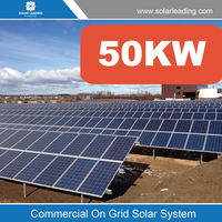 Commercial 50000w home use solar power system also with solar inverter 3-phase
