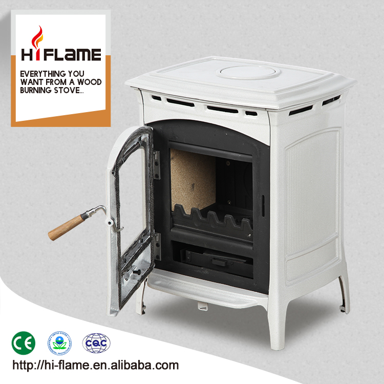 Wholesale enameled wood burner type wood burning stove used for home heating HF905UCE Grey