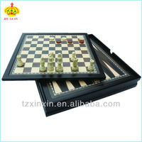 Wooden 10 in 1 Multi-function game set chess,backgammon,ludo,checker,solitaire,pass out.mancala.tic tac toe and playing cards