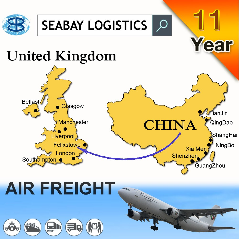 UK China air cargo shipping freight