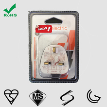 high quality UK electrical plug 3 flat pin plug with BS approval by BSI KM69196