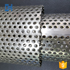 Factory direct sales welded 304 409 stainless steel perforated pipe for Germany car and motorcycle exhaust system