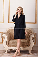 High Quality Soft Thin Sexy Women Viscose Robe With Shawl Collar