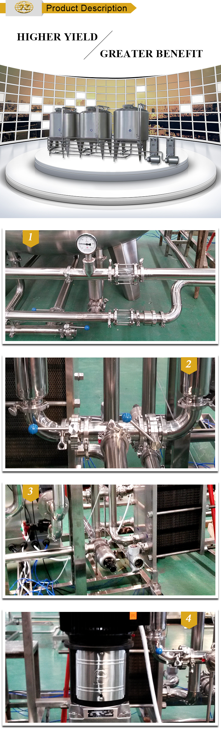 Manufacturer of full automatic cip system cleaning system washing Unit machine for sale