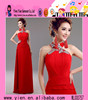 Custom High Quality Fashion Chiffon Frocks Designs Party Dress Red Sexy Formal Beaded Chiffon Frocks Designs Party Dress