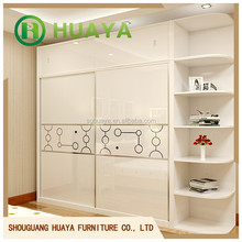 Fashion dressing room furniture 3 doors clothes cabinet design