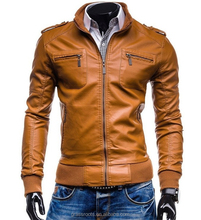 slim fitted leather jackets for <strong>men</strong> coat
