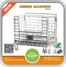Stackable Wire Mesh Wheel Warehouse Container