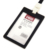 Waterproof PP plastic office id card holder with lanyard