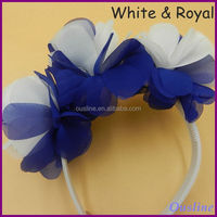 mix colors chiffon flower headbands