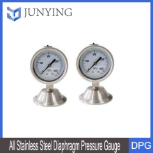 All stainless steel diaphragm seal pressure gauge