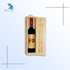 sell directly luxury black heat transfer printing bamboo wine bottle box