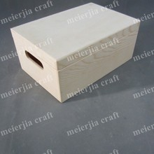 cheap wholesale storage handmade box unfinished wood crate