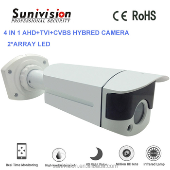 home security system standard lens M12 3.6/6/8/12/16mm lens 2 ARRAY LED 4 in 1 AHD+CVI+TVI+CVBS hybred camera