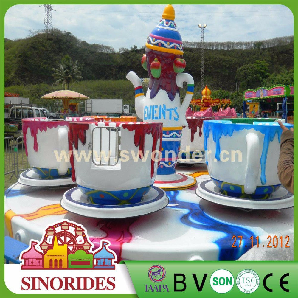 New arrival rotating coffee cups rides for sale from direct amusement park games factory