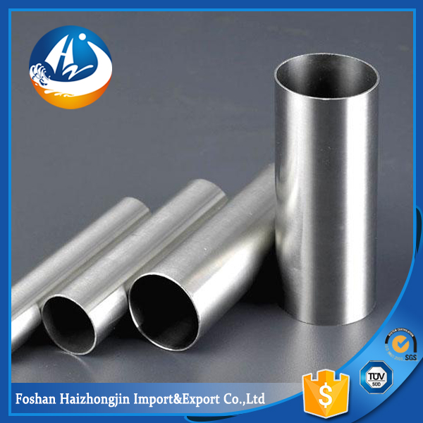mirror grit finish grade 202 stainless steel round welded pipe spiral pipe