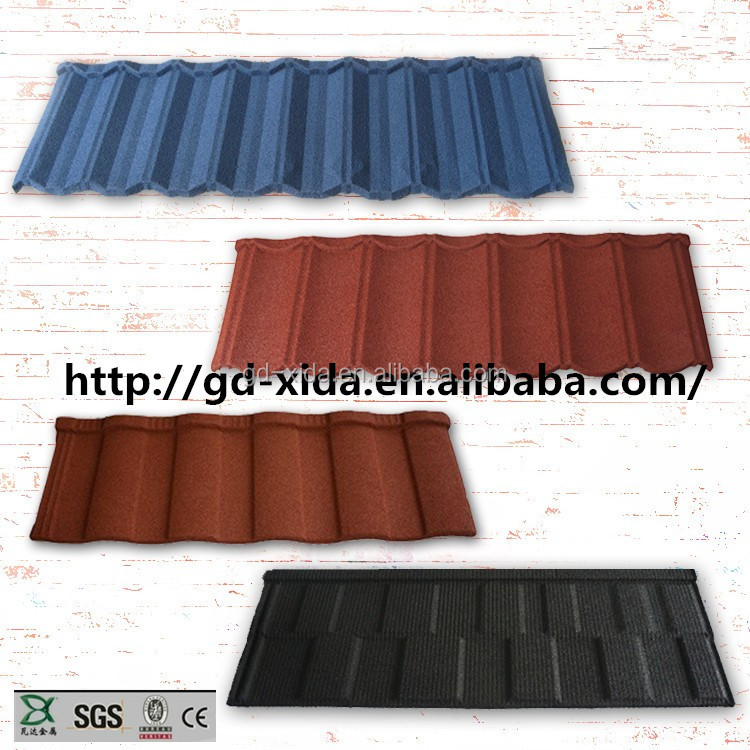 Colorful stone coated metal roof tile antique metal roof tiles of lightweight building mater