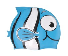 Factory price wholesale eco-friendly 100% silicone kids fish nemo swimming cap