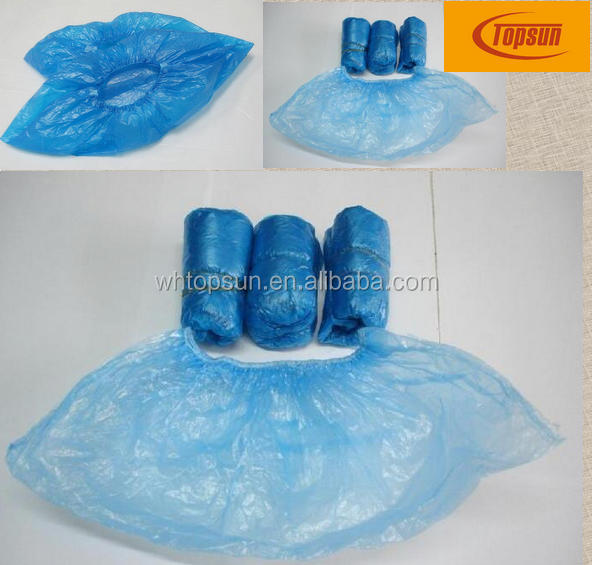 2016 polyethylene waterproof disposable plastic overshoes