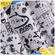 2017 New arrivals cartoon 100% cotton poplin printed fabric for garments