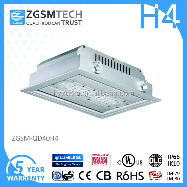 IP66 40w Led Celling gas station light with Lumileds 3030 chips