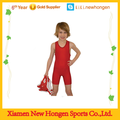 cheap simple design red wrestling singlets for kids