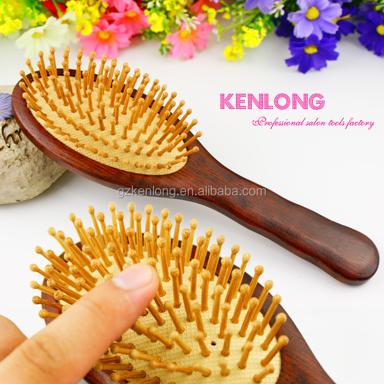 Hairdressing healthy care fashion design hair brush wood boar