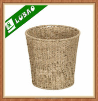 Handmade Cheap Seagrass Waste Storage Basket Bin For Sale