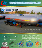 50tons/CBM, 50000liters, 40ft 3 axles container semi trailer ,lpg trailer 45 cbm