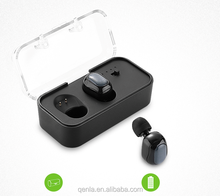 2017 New TWS true wireless earbuds M2 with charger case mini wireless earbuds bluetooth stereo headset