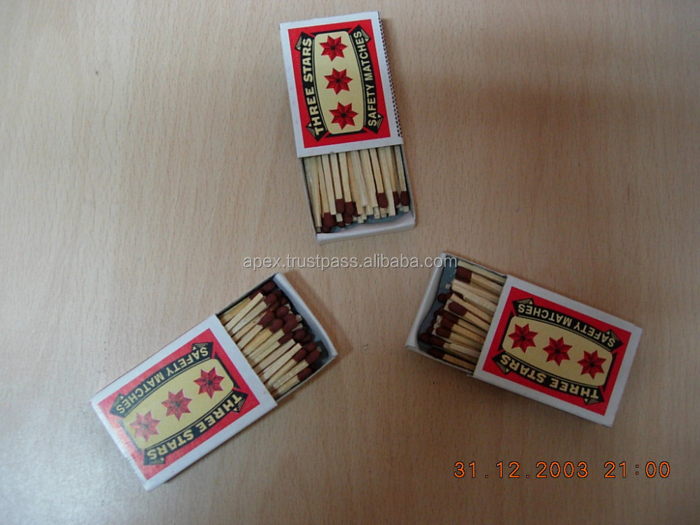 Three Star Safety matches (Small Size)