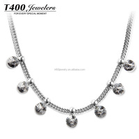 T400 New Products On China Market Jewelry Wholesale White Gold Plating Necklace#10784