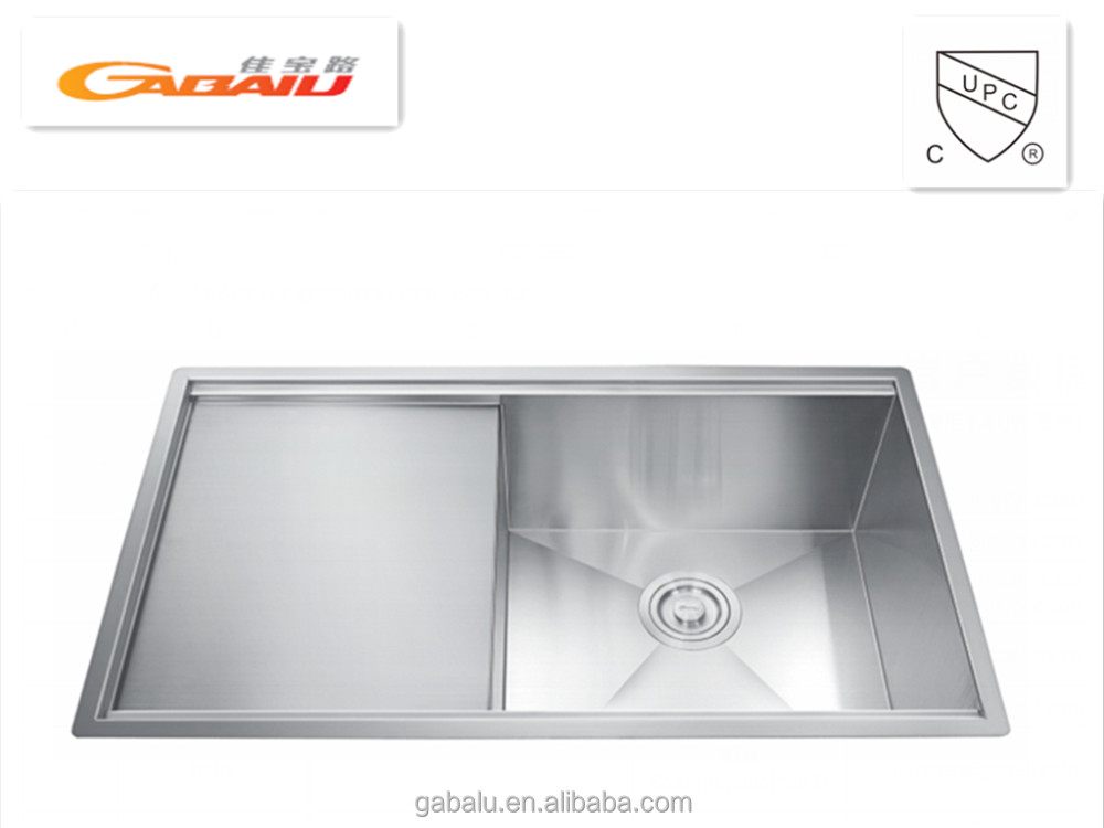 cUPC approval kitchen accessories stainless steel undermount double handmade kitchen sink 6911