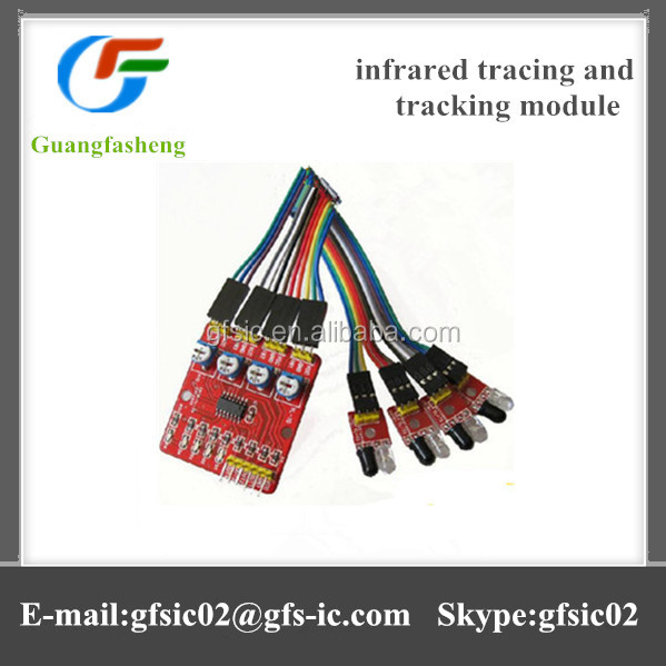 4 road infrared tracing and tracking module, patrol module, obstacle avoidance, cars, robots, sensors