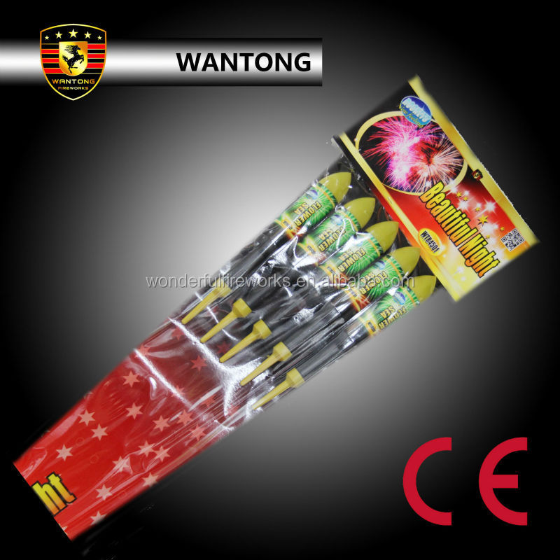 CE approved catagory F2 Assorted Rockets Pack fireworks factory