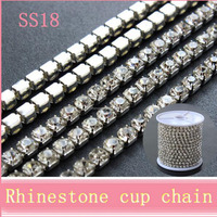 AAA quality SS18 cup chain roll crystal roll rhinestone cup chain