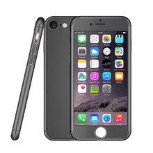 Ultra thin hybrid armor 360 full cover case for iphone 7 7 plus with tempered glass