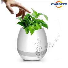 2017 wholesale plastic smart ABS blutooth speaker music flower planter