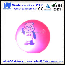 Rubber flashing bounce ball with light